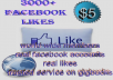 give you  3000+high RETENTION  facebook likes
