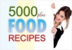 Give You More Than 5000 Food Recipes