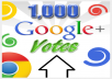 Provide 500 Google+ likes vote with in 24 hours