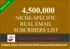 submit Your Email/Solo Ad to My 4500000 NICHE Specific Subscriber List
