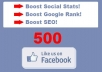 add 500 Facebook Likes to Your Website to Increase Google Rankings