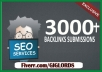 submit your website to 30K backlinks and directories for SEO plus ping all links
