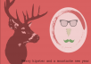 create this awesome hipster postcard for you
