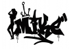 make your name in a cool black and white graffiti style