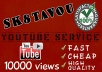 deliver 10000 HIGH RETENTION youtube views to your video very fast [SPLIT AVAILABLE]