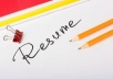 Write and Professional Resume