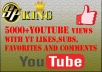 give 5000+ youtube views+25 youtube likes+25 subs + 25 favs