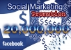promote Business to 20 million real active facebook members
