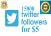 add 12000+ permanant Staying twitter  followers Guaranteed..