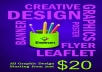create and design a unique one sided flyer/ leaflet