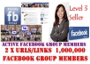 share Your Two Urls With More Than 1,000,000 Active FACEBOOK Group Members
