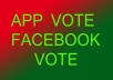 provide 100 Unique IP USA Facebook votes for your photo,app,post,contest,website rating or anything in 3 hours