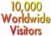 send 10,000 Unique Visitors to your website/blog