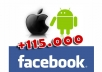post a link to my 115.000+ fans on Facebook about your game or app related to iOS (iPhone and iPad) and Android phones and tablets!