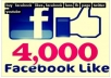 Give You 4000 Facebook Fans and Likes
