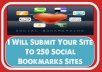 submit Your Site To 250 Social Bookmarks Sites