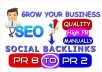 improve Your Websites Ranking with the 35 Pr2 to Pr8 Quality social bookmark