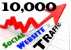 provide 10,000 Real Social Visitors to Your Website