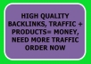 send you 3000 Guaranteed Organic Search Engines Traffic
