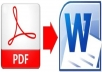 convert your whole Acrobat document to Microsoft Word or Microsoft Excel