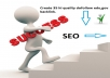 Create 35 hi quality dofollow edu,gov backlink