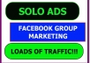 do Solo Ads And Facebook Groups Promotions Blast