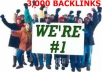 carry Out 3,000 High PAGERANK Backlinks For Your Website Traffic To Be No 1