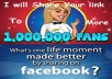 promote 3 TIMES your website or anything with 1 million facebook user