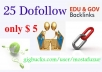 create 25 dofollow edu or gov profile backlinks