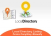 do manually local business listings or local citations service for 10 local directories
