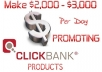 show You How To Make 2,000 To 3,000 Dollars Per Day With CLICKBANK