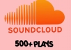 add 500+ Soundcloud Plays to one of your tracks