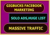 Post Your Links To 6 Million Facebook Groups Members,20 Million Email lists & Create 2 Blog Pages For Your Link