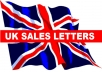write a professional powerful sales letter