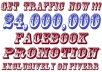 promote your link to 24,000,000 Real Facebook Fans