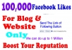 add 50,000+ Facebook Website likes to website or Blog within 48 hours