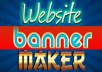 make a Creative Website Banner or Header