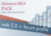 provide you more than 200 high quality backlinks