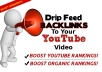 drip feed backlinks to your video url