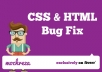 do any html and css work or fix your css and html