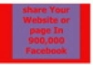 share Your Website or page In 900,000 Facebook Groups Members for