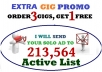 blast your solo ad, email ads, messages to my Responsive 213,564 list with at least 1,400 opt-ins/guaranteed clicks