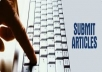 Manually submit your articles to 20 most visited article directory