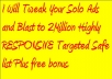 tweak and Blast your Solo Ads to 2Million Highly RESPONSIVE Targeted Safe list
