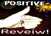Write a positive/negative review or comment