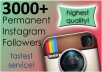 provide 3000 Instagram Followers