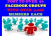 Teach You How To POST To Over 50 FACEBOOK GROUPs With Over 3,000 Members Each