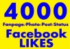 give 2000+ Facebook Photo/Post/Status Likes [Split Max 8 Links] within 48 Hours