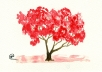 paint you a small tree in watercolor