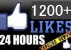 provide 1200 Real FACEBOOK Likes